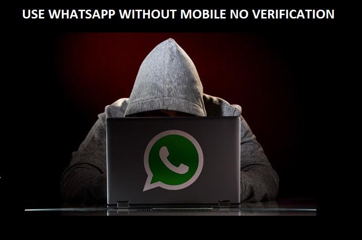 Use whatsapp without mobile no verification