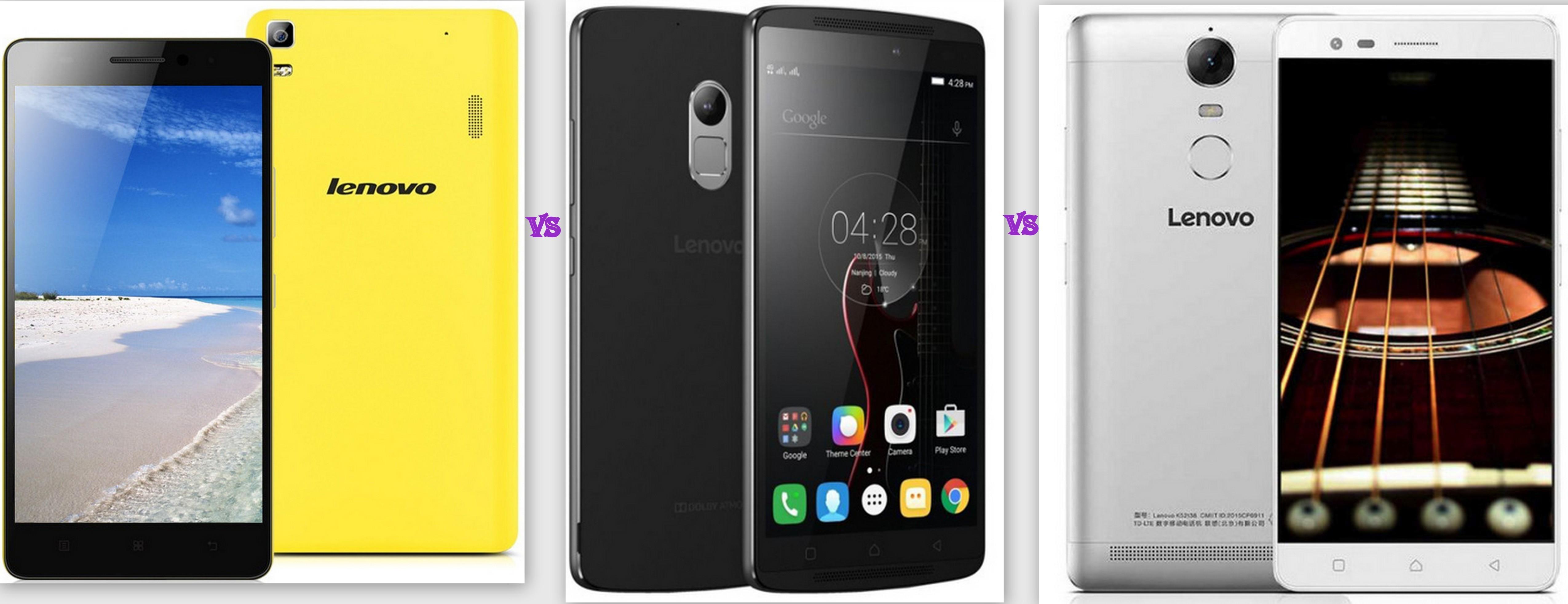 Lenovo K3 Note vs K4 Note vs K5 Note