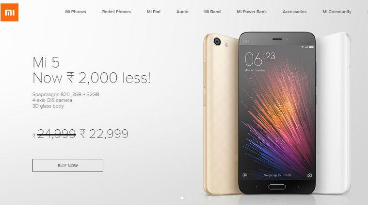 Xiaomi Mi 5 Price Cut