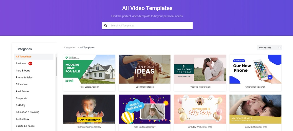 flexclip templates
